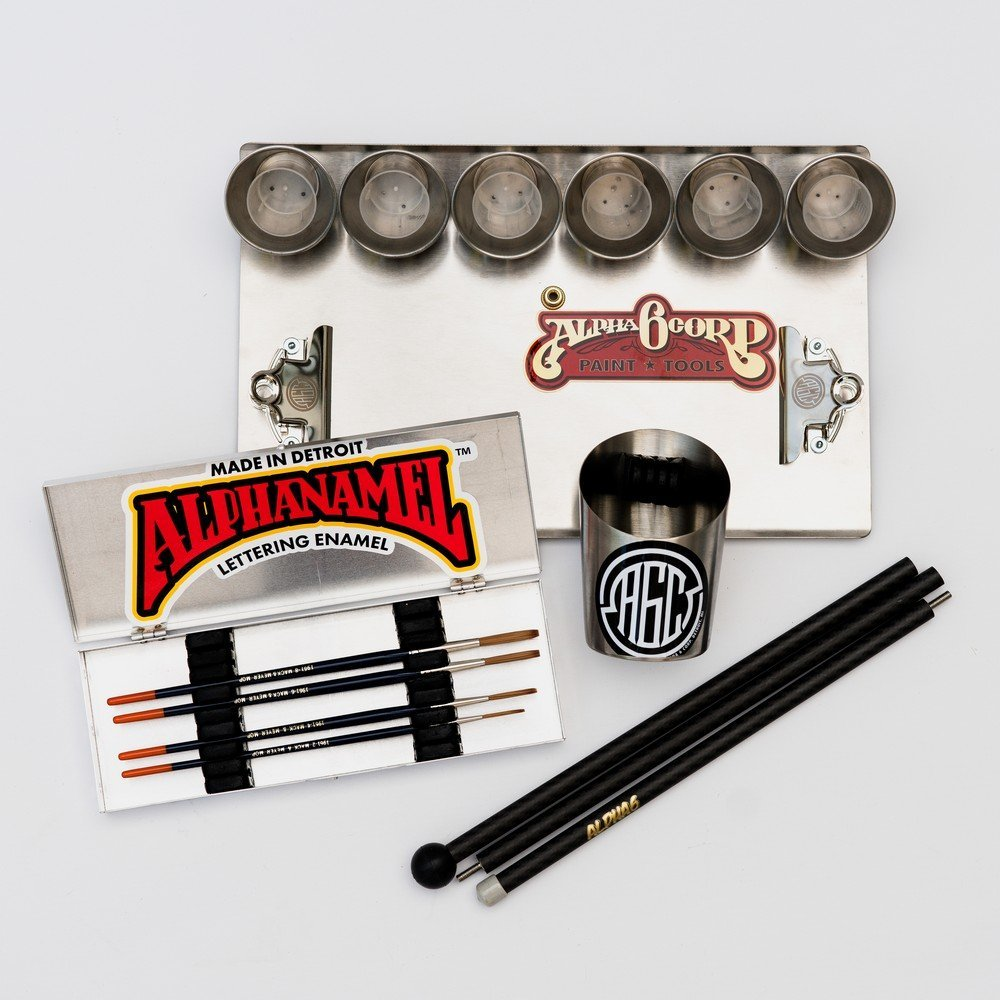 Custom pinstriping and signwriting tools and supplies