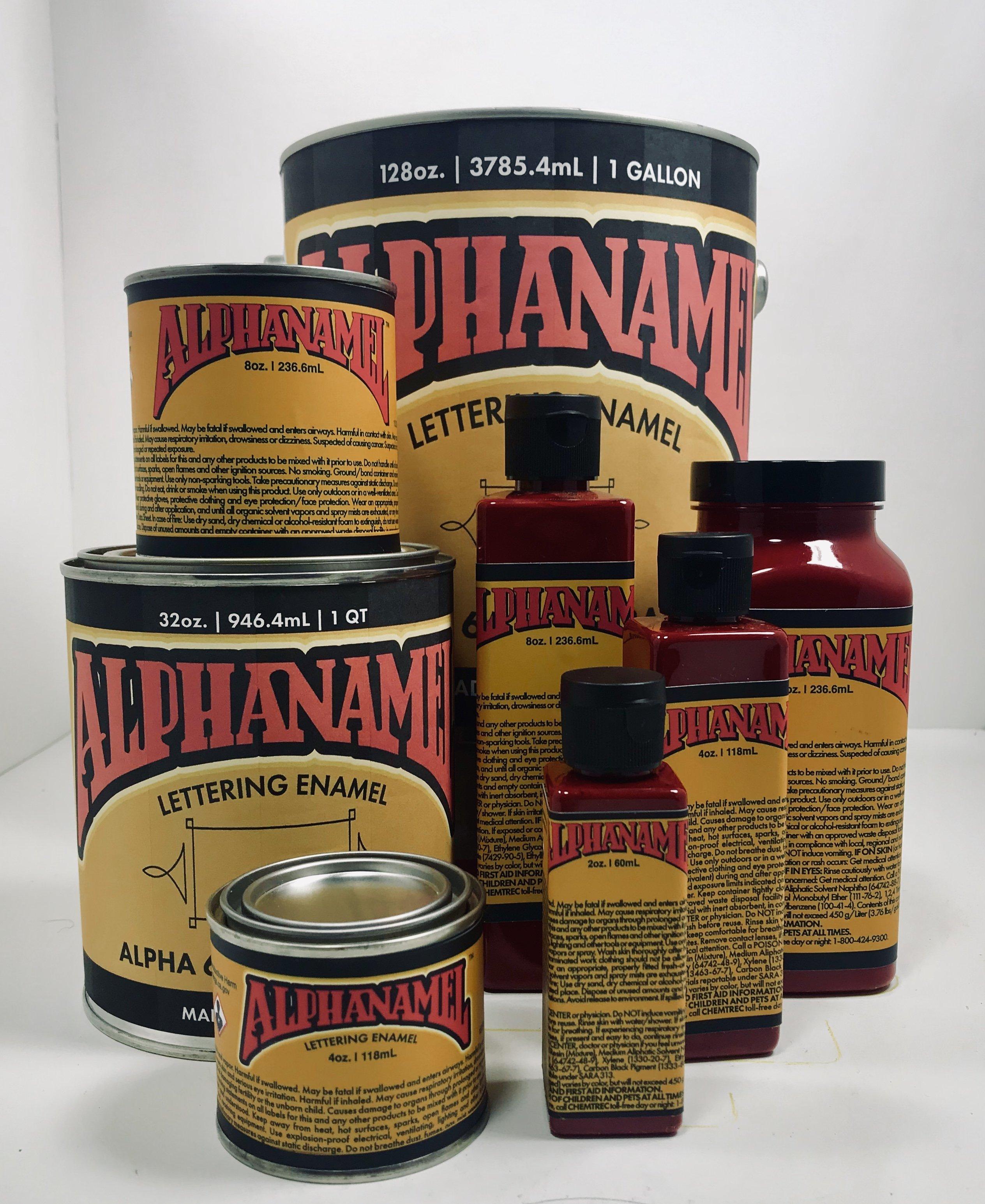 Alphanamel - Dark Red