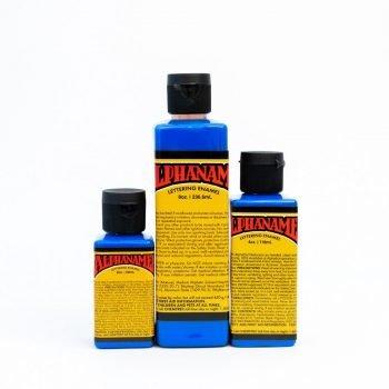 Alphanamel Electroshock Blue - fluorescent enamel paint