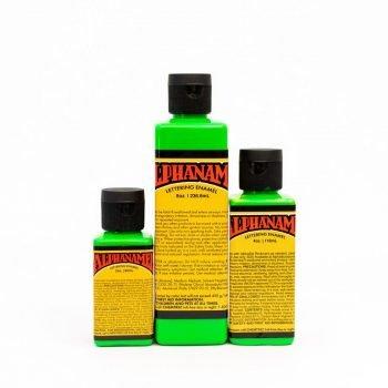Alphanamel Electroshock Green - fluorescent enamel paint