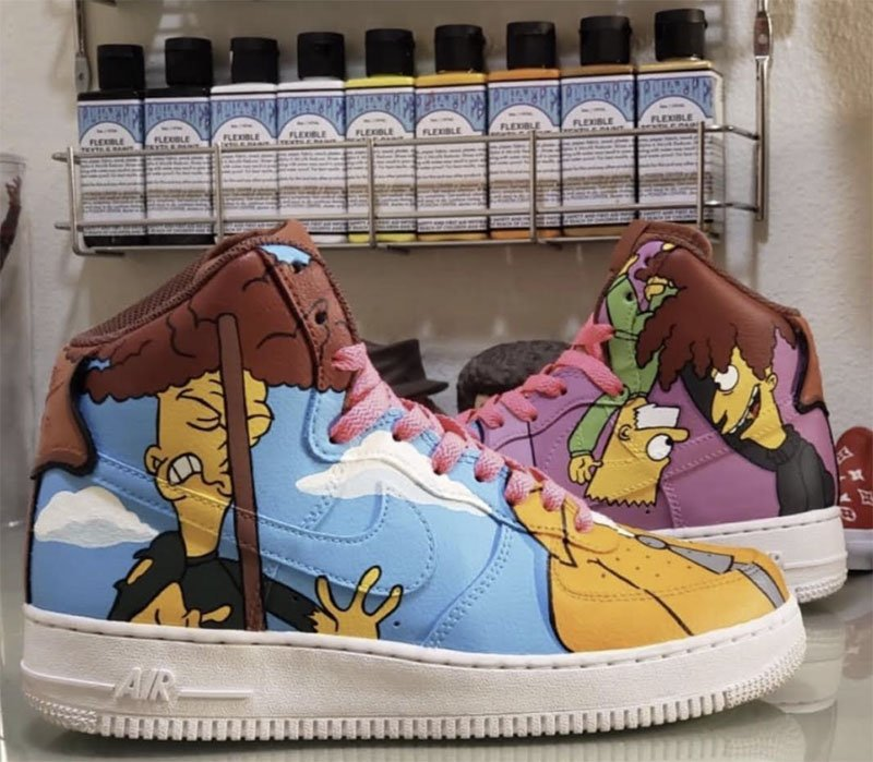AlphaFlex painted sneakers