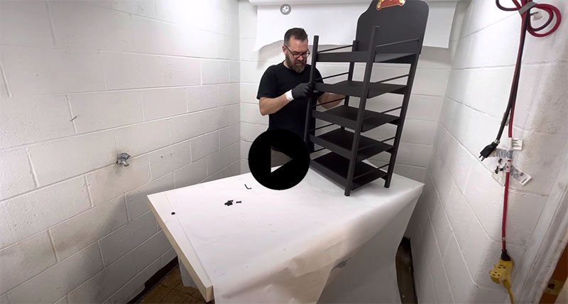 "The ""how to assemble our retail rack"" video"