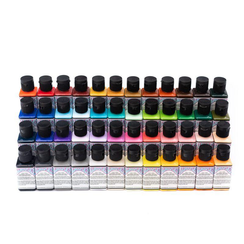 AlphaFlex Leather & Textile Paint Monster Pack - 48 colors