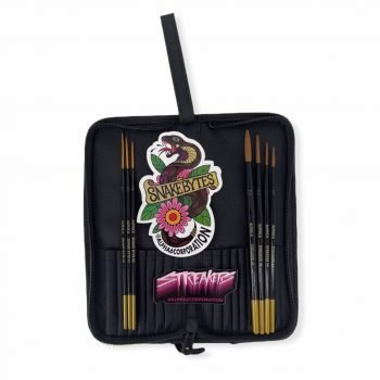 Alpha 6 Travel Brush Case with a set of Streakers and Snake Bytes